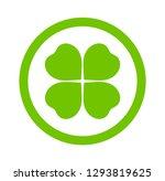 clover leaf icon. vector... | Shutterstock .eps vector #1293819625