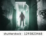silhouette of man maniac or...   Shutterstock . vector #1293823468