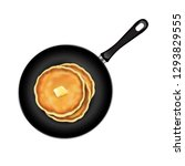 pancake isolated with butter... | Shutterstock . vector #1293829555