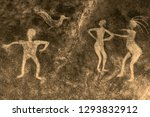 image of ancient people on the... | Shutterstock . vector #1293832912