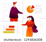 data analysis   flat design... | Shutterstock .eps vector #1293836308
