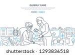 elderly care   modern line...   Shutterstock .eps vector #1293836518
