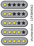 Star ratings for review from one to five stars - stock photo