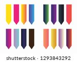 color sticky tags  | Shutterstock .eps vector #1293843292