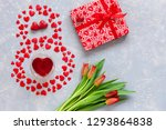 Red Hearts Figurines In The...