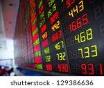display of stock market quotes... | Shutterstock . vector #129386636