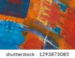 abstract art background. hand... | Shutterstock . vector #1293873085