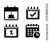 calendar set vector icon