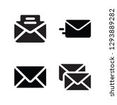 email set vector icon