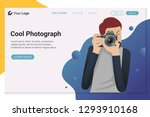 photographer character takes... | Shutterstock .eps vector #1293910168
