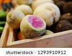 colorful shiny fresh vegetables....   Shutterstock . vector #1293910912