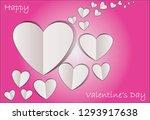heart paper. illustration for... | Shutterstock .eps vector #1293917638