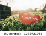 Red Heart Love Symbol On The...