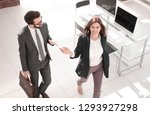business couple discussing... | Shutterstock . vector #1293927298