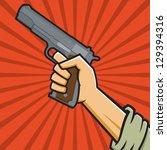 vector illustration of a fist... | Shutterstock .eps vector #129394316