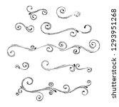 hand drawn vintage scrolls  set | Shutterstock .eps vector #1293951268
