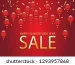 happy lunar new year 2019 sale...   Shutterstock .eps vector #1293957868