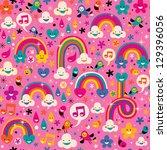 rainbows pattern   Shutterstock .eps vector #129396056