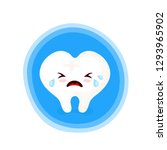 sad unhealthy crying sick tooth.... | Shutterstock .eps vector #1293965902