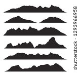 mountains silhouettes on the... | Shutterstock .eps vector #1293966958