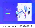 teamwork. landing page for web. ... | Shutterstock .eps vector #1293968812