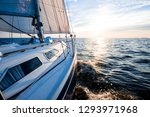 sailing at sunset. a view from... | Shutterstock . vector #1293971968