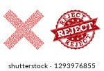 mosaic reject cross created... | Shutterstock .eps vector #1293976855