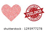 mosaic love heart designed with ... | Shutterstock .eps vector #1293977278