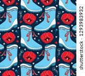 vector seamless pattern with... | Shutterstock .eps vector #1293983932