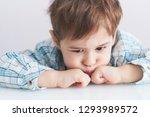 Portrait Of A Cute Little Boy...