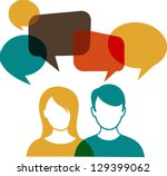 people icons with colorful... | Shutterstock .eps vector #129399062