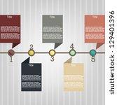 time line step   Shutterstock .eps vector #129401396
