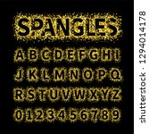 uppercase regular display font... | Shutterstock .eps vector #1294014178
