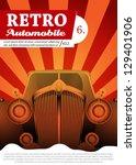 retro car background design | Shutterstock .eps vector #129401906