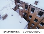 abandoned building  aerial view ... | Shutterstock . vector #1294029592