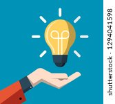 idea concept with light bulb... | Shutterstock .eps vector #1294041598