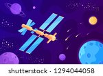 discovering new planets by... | Shutterstock .eps vector #1294044058