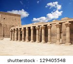 horus temple with egyptian... | Shutterstock . vector #129405548