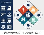 automatic icon set. 13 filled... | Shutterstock .eps vector #1294062628