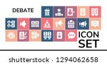 debate icon set. 19 filled... | Shutterstock .eps vector #1294062658