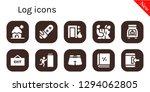 log icon set. 10 filled log... | Shutterstock .eps vector #1294062805