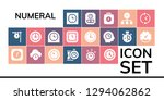 numeral icon set. 19 filled...   Shutterstock .eps vector #1294062862