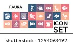 fauna icon set. 19 filled... | Shutterstock .eps vector #1294063492