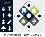 onion icon set. 13 filled...   Shutterstock .eps vector #1294063498
