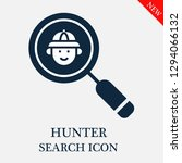 hunter search icon. editable... | Shutterstock .eps vector #1294066132