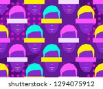 seamless pattern of male faces... | Shutterstock .eps vector #1294075912
