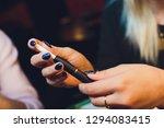 smoker smoking hybrid smokeless ... | Shutterstock . vector #1294083415