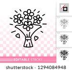 flower thin line icon. outline... | Shutterstock .eps vector #1294084948