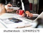 business concept. businessman... | Shutterstock . vector #1294092175