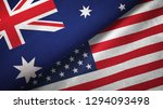 australia and united states two ... | Shutterstock . vector #1294093498
